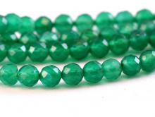 Нить бусин-шарик 4.5 мм. ограненный,камень хризопраз натуральный,цвет-изумрудно-зеленый, сочный, полупрозрачный,