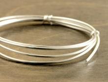 Серебряная мягкая проволока 1.02 мм. круглая