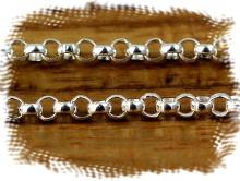 Цепочка МЕЛКАЯ Sterling Silver (9 звеньев в 10 мм.)