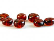 Бусинаформы рондель, камень-гранат красный(андраит),натуральныйполированный.Цвет-глубокийкрасно-коричневый чистый