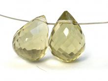 Бусина ограненная, форма- крупный бриолет,камень натуральный-лимонный топаз,цвет-желтый, напоминаетмякоть лимона,