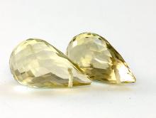 Бусина крупная ограненная, формы бриолет,камень натуральный-лимонный топаз,цвет-желтый, напоминаетмякоть лимона, прозрачный, чистый
