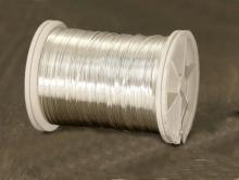 Медная 0.4 мм. посеребренная проволока полужесткая, такая проволока предназначена для обмотки в рукоделии Handmade, Wire Wrap, Wire Art,