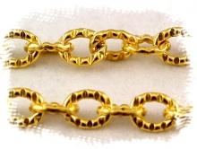 Цепочка Gold Filled 4.5 звена в 10 мм. для создания украшений, покрытие Голд Фил