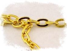 Цепочка Gold Filled 2.5х1.8х0.2 мм. (6.5 звена в 10 мм.)
