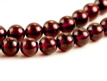 Бусина–шарик полированный 6 мм., камень-натуральный красный гранат (альмандин)