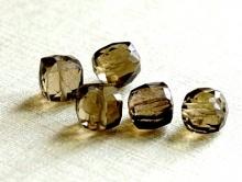 Бусина огранённая камень - раух топаз, натуральный, форма кубик