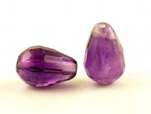Бусинаогранённая,камень-аметистнатуральный,цвет-фиолетовый, приглушенный,размер–10.5 (интервал 9.6-11.4) мм.