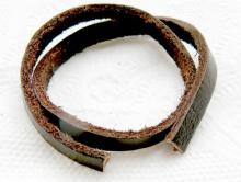 Шнур кожаный 4 мм плоский коричневый