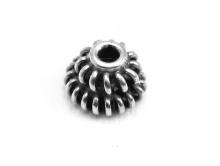 Шапочка для бусины из серебра ручной работы, размер-6х4 мм. вн. отв. 1.6 мм.  Материал-серебро 925 пробы.
