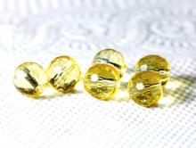 Бусина шарик 6 мм., ограненный, камень-цитрин (искуственно выращенный) Цвет-теплый желтый,