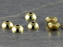 Шапочкадля бусин мелкая 4 мм. круглая, цвет-золото (родиевое износостойкое покрытие).