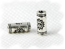 усина серебряная трубочка, материал-серебро 925 (стерлинг сильвер), цвет-серебро чернённое, размер-8х3.5 мм.