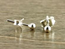Гвоздики-пусеты серебряные (серебро 925) цена за 1 пару