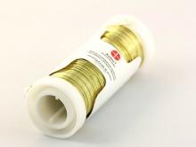Проволока 0,3 мм. позолоченная цвет золото катушка 50 м.