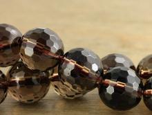 Бусина-шарик ограненный,10 (+-0,3) мм.вн. отв. 1.1 мм. камень-раух топазнатуральный,