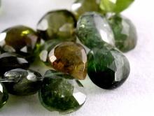 Бусина огранённая формы лепесток, натуральный камень-турмалин, размер бусины-дл./шир./толщ.-6.7х6.7х4.5 мм. (+-0,35 мм.)