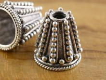 конус серебряный стерлинговое серебро 925