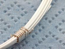 Серебряная мягкая проволока 0.8 мм (20ga) для изготовления ювелирных украшений,