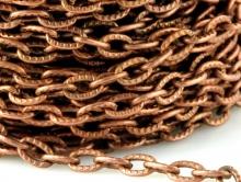цепочка средняя,  цвет – состаренная медь, (2.5 звена в 10 мм.) для рукоделия для изготовления бижутерии