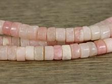Бусина трубочка гладкая родохрозит.