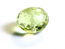 Бусина крупная огранённая, форма рондель,камень-лимонный топаз натуральный,