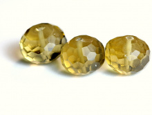 бусина рондель ограненная, камень цитрин натуральный