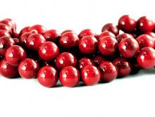 Бусины-коралл натуральный, форма шарик, цвет-кроваво-красный, яркий, диаметр-5.5 (+0,2) мм.