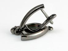 Швензы для изготовления серёг с замком посеребрённые с креплением для подвески