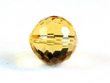 """Бусина шарик ограненный, камень иск. выращенный-цитрин, цвет-золотисто- желтый, сочный, огранка """"соты"""", размер–8 +-0,1 мм. вн. отв. 0,45 мм. Цена за-1 шт. См. еще ФОТО... Используется для изготовления подвесок в серьгах и др. украшениях Handmade."""