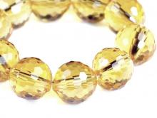 Бусина шарик ограненный, камень природный-цитрин, цвет-золотисто- желтый, не однородный по цвету и прозрачности, размер–8 +-0,3 мм.