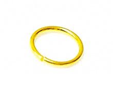 Кольцо открытое позолоченное. 6х0.65 мм. За 1 шт.