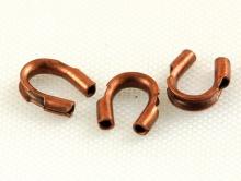 Протэктор для ювелирного тросика или нити, размер–4.5х4 мм. вн. отв. 0.5 мм. Цвет–медь состаренная (антик),