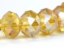 Бусина из стекла,   12 мм./за 5 шт. цвет янтарно-желтый прозрачный
