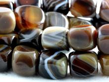 "Бусина гладкая форма ""прямоугольньная "", камень-агат натуральный,гладкий,размер–10х8 мм.,"