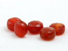 Бусина огранённая, форма-плоская таблетка, камень натуральный-сердоликцвет-оранжевый насыщенный полупрозрачный.