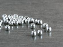 Бусина-кримп, цвет- серебряный, размер д/в-1х1.5 мм. вн. отв. 1.3 мм., материал-бижутерный сплав