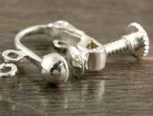 швензы с винтом для изготовления серёг, бижутерии цвет белое серебро