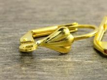 Швензы с замком для изготовления серег, бижутерии, цвет золота