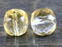 Бусина ограненнная, форма кубик,.натуральный камень-цитрин природный,цвет-желтый, теплый, прозрачный