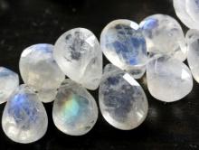 Бусина ограненная, камень натуральный-лунный камень