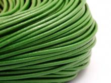 Шнур кожаный 2 мм. цвет оливково-зеленый,