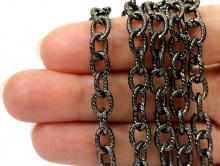 Цепочка чёрный оксид 8.8 мм. для создания бижутерии, браслетов