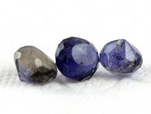 Бусина ограненная, форма луковка. Камень науральный-иолит, цвет-сине-фиолетовый,приглушенный, с бурым (в зависимости от угла зрения).