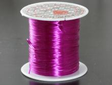 Эластичная нить это резинка 0.5 мм. цвет красно-фиолетовый