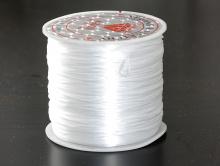 Эластичная (силиконовая) нить это резинка0.5 мм. цветбелыйдля создания украшений, чаще браслетов,