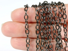 Фурнитура для рукоделия-цепочка цвета чёрный оксид