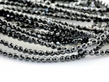 Бусины рондели–камень гематит натуральный, ограненый. Цвет-тёмно-серебристый с металлическим блеском