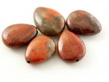 Бусины гладкие, форма плоской капли, натуральный камень яшма пейзажная, цвета-основные: кирпичный, серый, черный, бежевый,