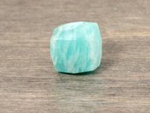 Бусина кубик  ограненный-камень амазонит натуральный, цвет-нежный бирюзово-голубой, размер кубика -7,5 (+-0,2) мм.